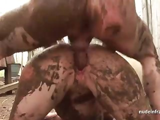 Bony inexperienced brown-haired rectal banged n spunked outdoor in a filthy french pay court to