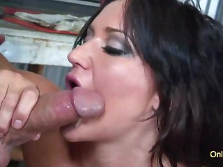 Amazing milf Luxxx May blowing and riding hard on cock