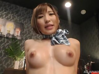 Japanese babe in unvarying Natsuki Minami fucked had missionary song